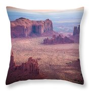 Monument Valley From Hunts Mesa Throw Pillow by Inge Johnsson