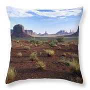 Monument Valley From North Window Throw Pillow
