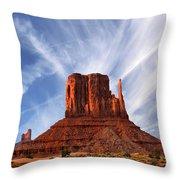Monument Valley - Left Mitten 2 Throw Pillow by Mike McGlothlen