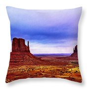 Monument Valley Navajo National Tribal Park Throw Pillow