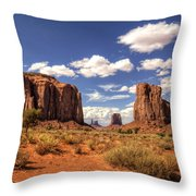 Monument Valley - North Window Overlook  Throw Pillow