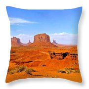 Monument Valley - Panorama Throw Pillow