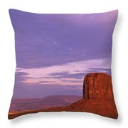 Monument Valley Red Rock Formations At Sunrise Throw Pillow