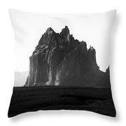 Monument Valley Region-arizona Black And White Throw Pillow