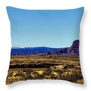 Monument Valley Region-arizona V2 Throw Pillow