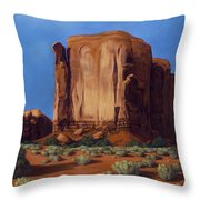 Monument Valley- Sunlit Throw Pillow