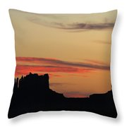 Monument Valley Sunset 1 Throw Pillow