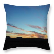 Monument Valley Sunset 2 Throw Pillow
