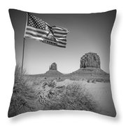 Monument Valley Usa Bw Throw Pillow