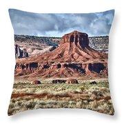 Monument Valley Ut 7 Throw Pillow