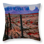 Monument Valley -utah V13 Throw Pillow