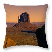 Monument Valley -utah V15 Throw Pillow