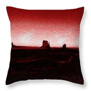 Monument Valley -utah V5 Throw Pillow