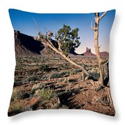 Monument Valley -utah  V6 Throw Pillow
