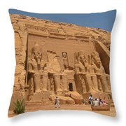 Monumental Abu Simbel Throw Pillow
