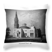 Monumental Church - 1812 Throw Pillow