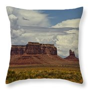 Monumental Clouds  Throw Pillow