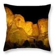 Monumental Night Shot Throw Pillow