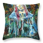 Monumental Tree Goddess Throw Pillow