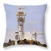 Monumento Al Campesino On Lanzarote Throw Pillow
