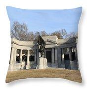 Monutent At Vicksburg National Military Park Throw Pillow