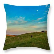 Moo Moon Throw Pillow