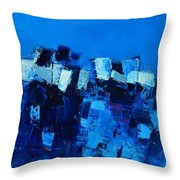 Mood In Blue Throw Pillow