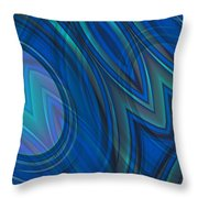 Mood In Blues Throw Pillow