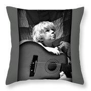 Mood Strings Throw Pillow