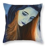Moody Blue Throw Pillow