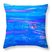 Moody Blues Abstract Throw Pillow