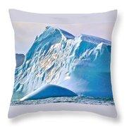Moody Blues Iceberg Closeup In Saint Anthony Bay-newfoundland-canada Throw Pillow