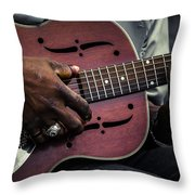 Moody Blues On Steel Throw Pillow