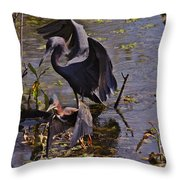 Moody Blues Throw Pillow by Sean Green