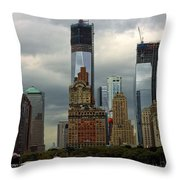 Moody City Throw Pillow