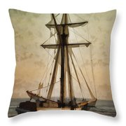 Moody Day Throw Pillow