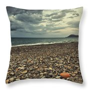 Moody Landscape Throw Pillow