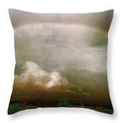 Moody Rainbow Panorama Throw Pillow