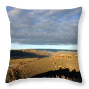 Moody Skies Over An Adobe Throw Pillow