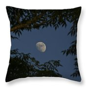 Moon Among The Branches Throw Pillow