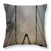 Moon And A Bridge Throw Pillow