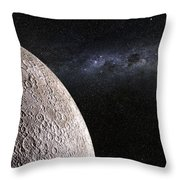 Moon And Galaxy. Throw Pillow
