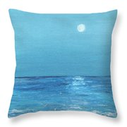 Moon And Meteor Throw Pillow