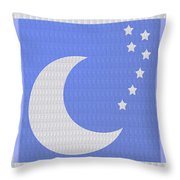 Moon And Stars With Crystal Stone Healing Energy Plates By Side Navinjoshi Rights Managed Images For Throw Pillow