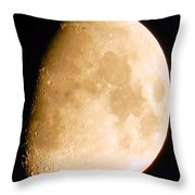 Moon Craters Galore Throw Pillow
