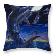 Moon Doggie Off00124 Throw Pillow by Carey Chen
