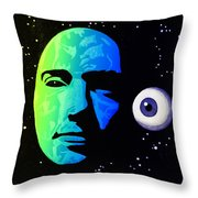 Moon Eye Bi Color Throw Pillow