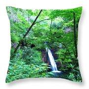 Moon Falls Throw Pillow