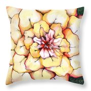 Moon Flower Out Of The Bloomers And Onto The Bloom Throw Pillow by Shadia Derbyshire