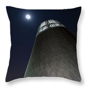 Moon Gazing From Museum Throw Pillow